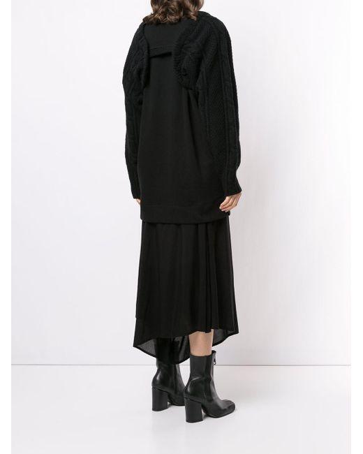 Y's Yohji Yamamoto ケーブルニット セーター Black