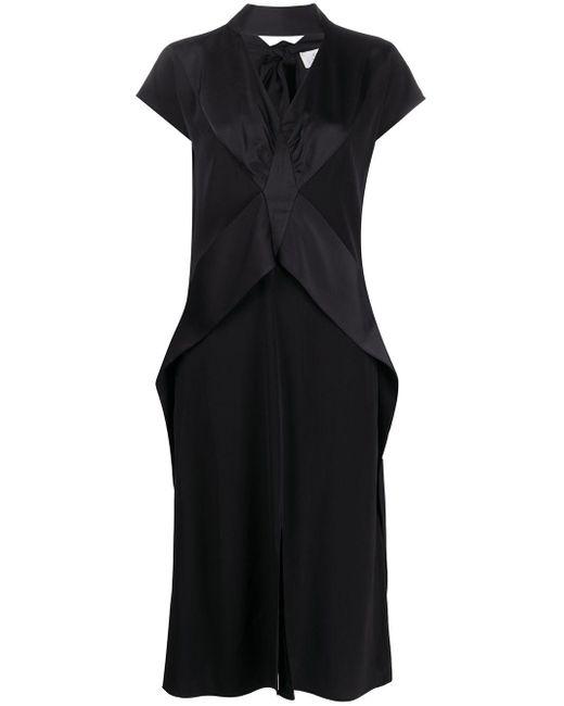 Victoria, Victoria Beckham パネル タイネックドレス Black
