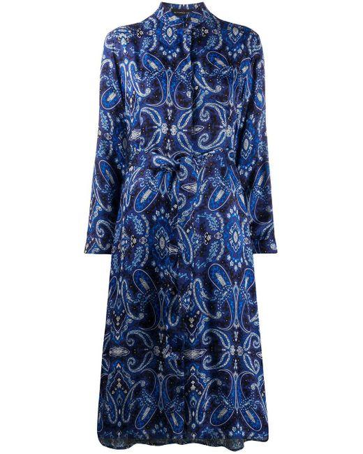 Etro ペイズリー シャツドレス Blue