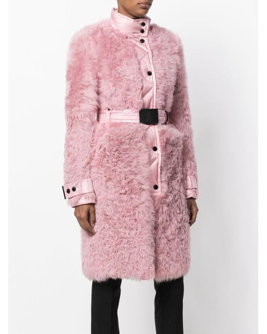 3 MONCLER GRENOBLE ダウン ファーコート Pink