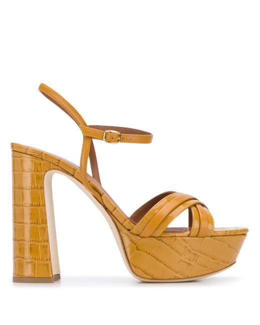 Malone Souliers Sandalias Mila con plataforma de mujer de color marrón