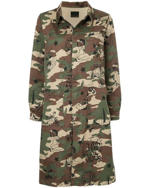 Hysteric Glamour | Green Camo Print Coat | Lyst