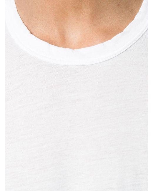 T-shirt con girocollo di James Perse in White da Uomo