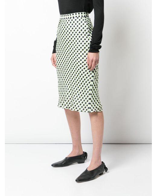 PROENZA SCHOULER WHITE LABEL スリップスカート Green