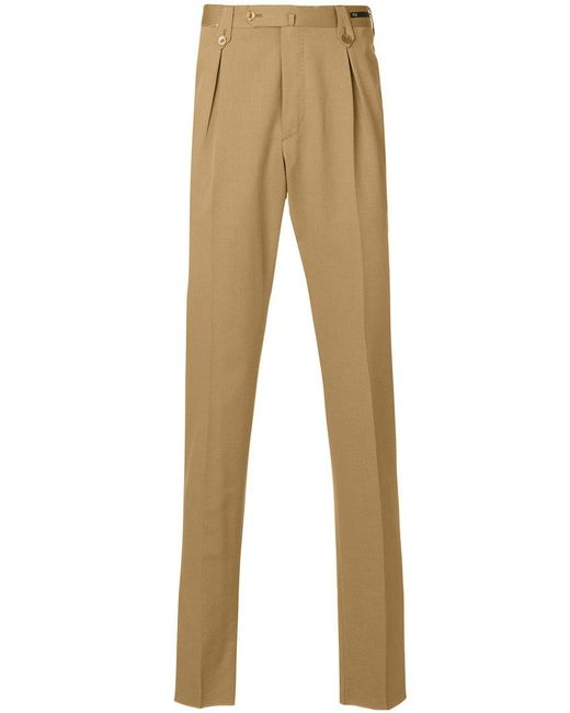 PT01 - Brown Tailored Trousers for Men - Lyst
