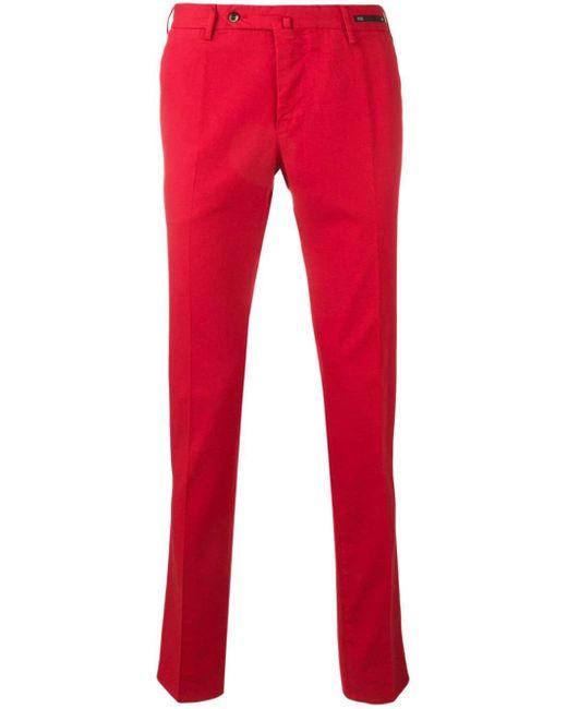 メンズ PT01 ストレートパンツ Red