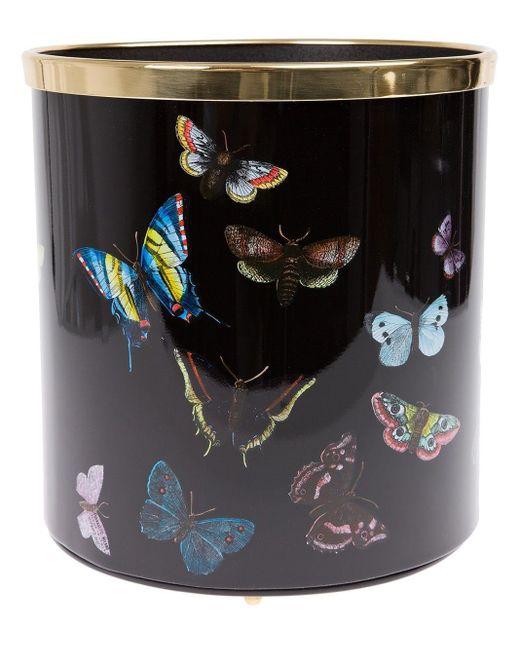 Fornasetti Butterfly ペーパー バスケット Black