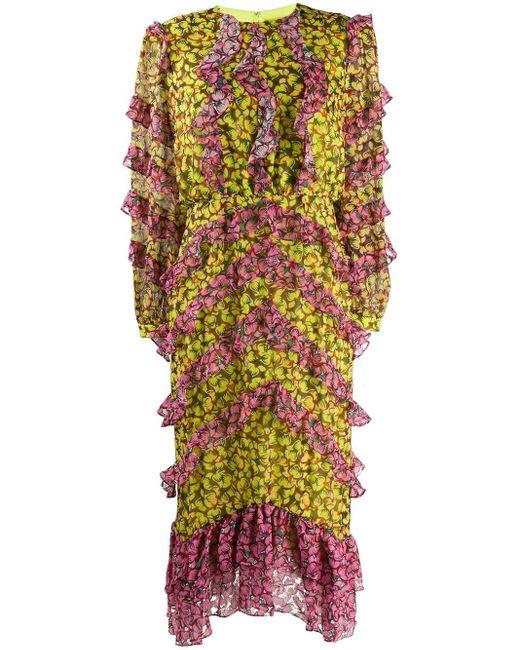 Saloni Fantasy フローラル ドレス Multicolor