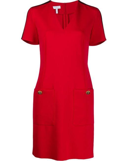 ESCADA サイドストライプ ドレス Red