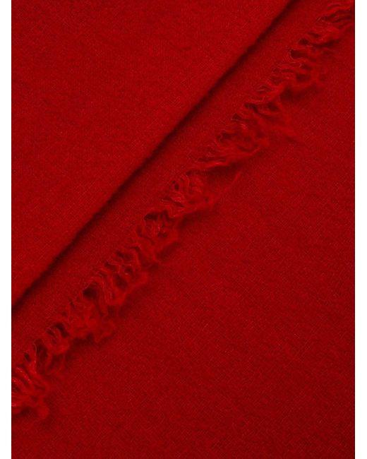 Faliero Sarti フレイドエッジ スカーフ Red