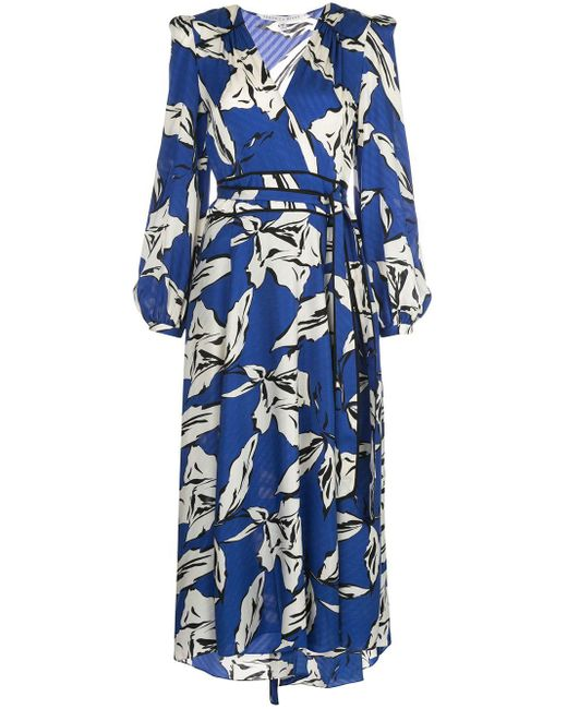 Veronica Beard フローラル ドレス Blue