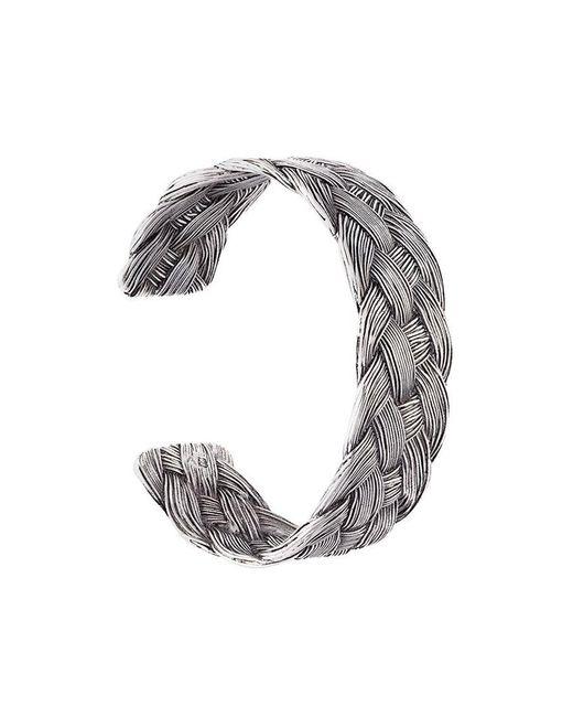 Aurelie Bidermann - Metallic 'braided' Open Bracelet - Lyst