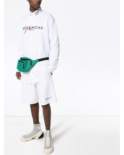 Givenchy Sweater Met Geborduurd Logo in het White voor heren