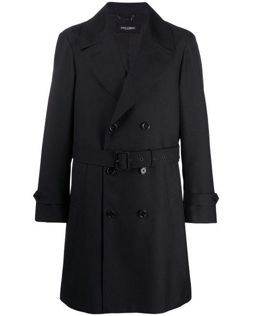 メンズ Dolce & Gabbana トレンチコート Black