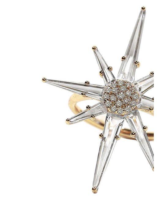 Bondeye Hera ダイヤモンド トパーズ リング 14kイエローゴールド Metallic