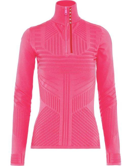 Prada ジャカード セーター Pink