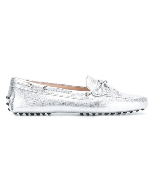 d05a8500b62 Tod s - Metallic Gommino Driving Shoes - Lyst ...