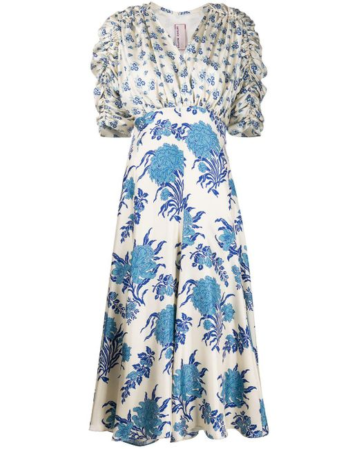 Antonio Marras フローラル ドレス Blue