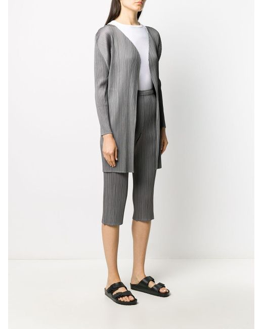 Легкое Плиссированное Пальто Pleats Please Issey Miyake, цвет: Gray