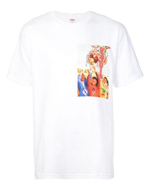 メンズ Supreme グラフィック Tシャツ White