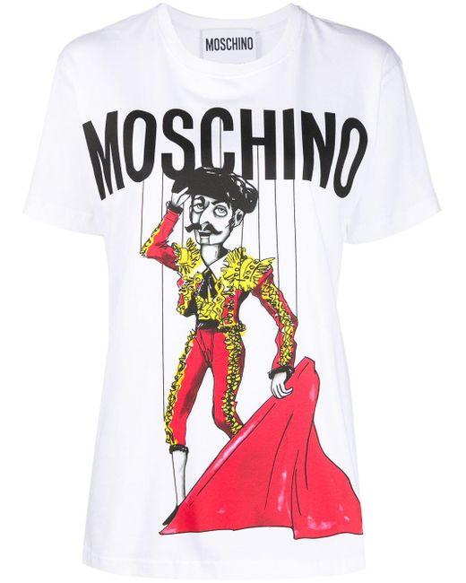 Moschino Camiseta con estampado de torero de mujer de color blanco XEJLb