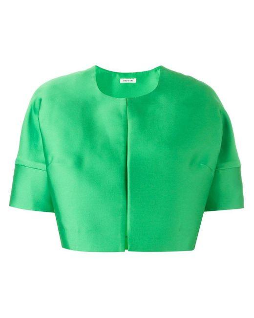 P.A.R.O.S.H. ノーカラークロップドジャケット Green