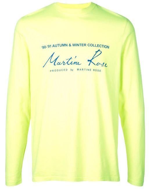 メンズ Martine Rose ロゴ Tシャツ Yellow