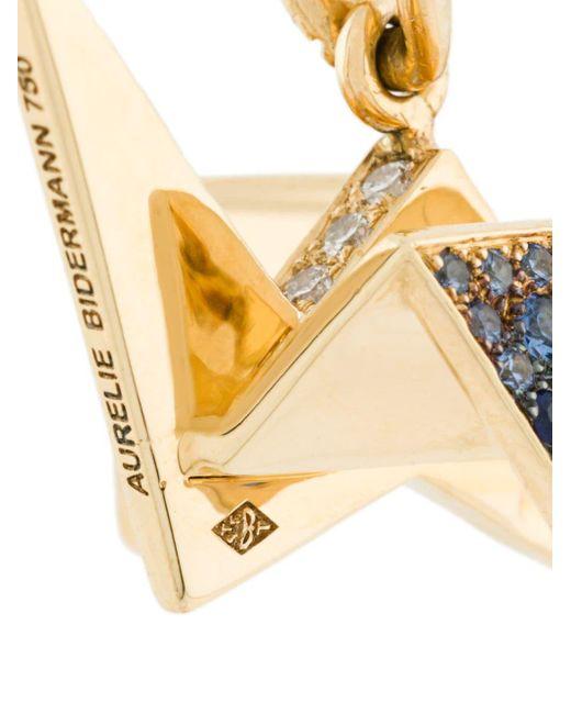 Colgante Origami con zafiro y diamante Aurelie Bidermann de color Metallic
