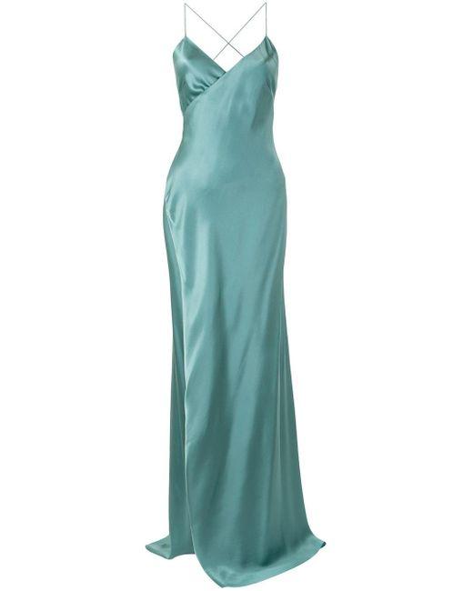 Michelle Mason ストラップ ラップドレス Green