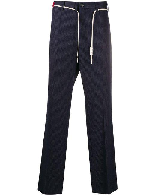 メンズ Marni テーラード ストレートパンツ Blue