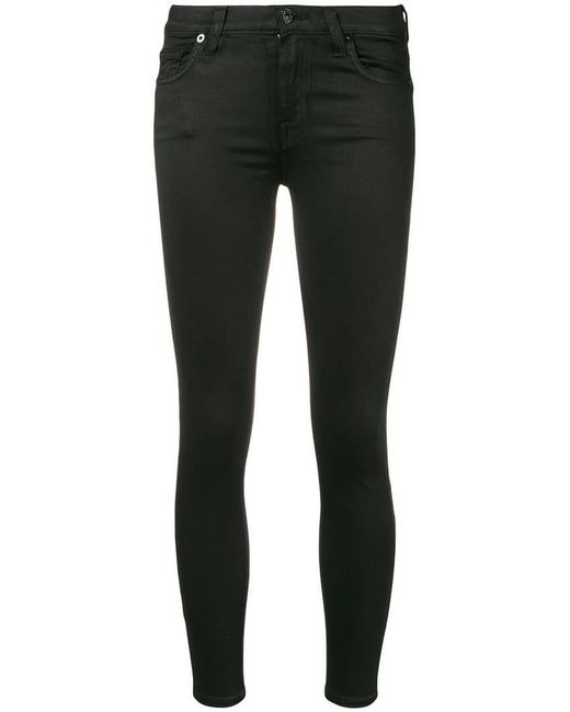 7 For All Mankind - Black Skinny Trousers - Lyst