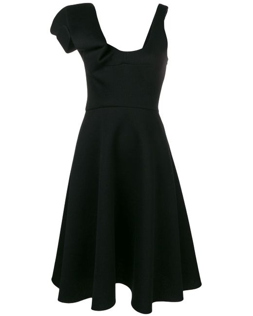 Chalayan Black Asymmetric A-line Dress