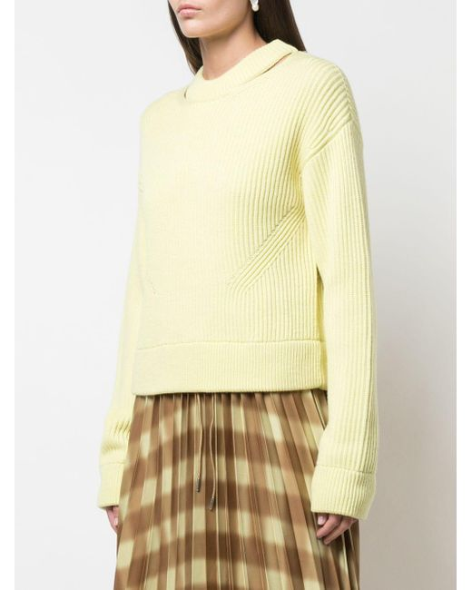 PROENZA SCHOULER WHITE LABEL リブ プルオーバー Yellow