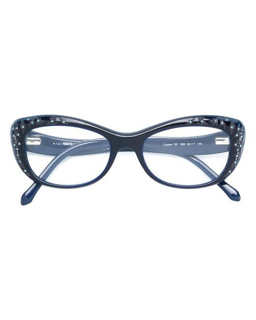 Lyst - Gafas con montura cat eye Roberto Cavalli de color Azul