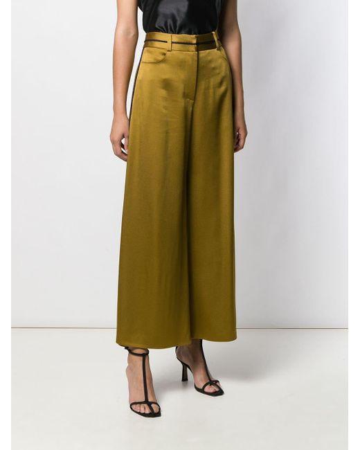 Pantaloni crop a gamba ampia di Peter Pilotto in Green