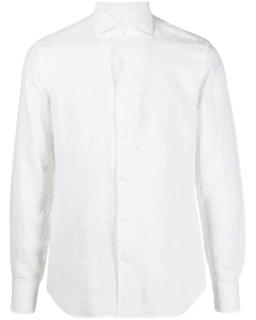 メンズ Corneliani ボタン シャツ White