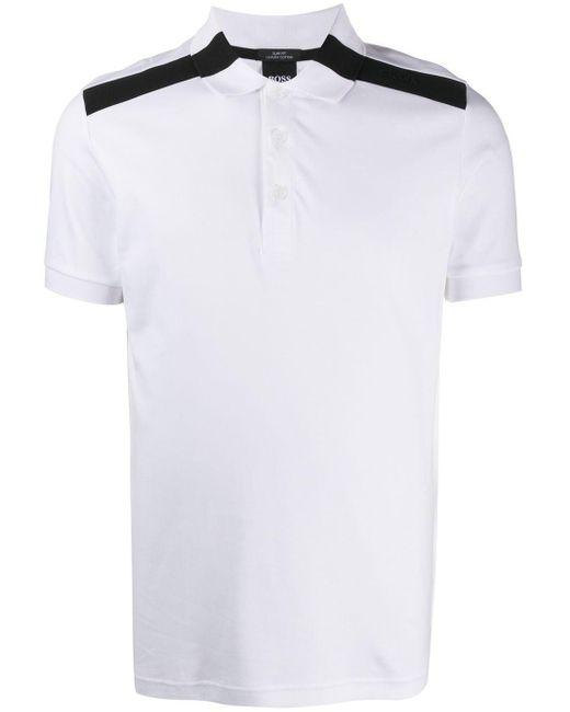 メンズ BOSS by Hugo Boss Paule ストライプ ポロシャツ White