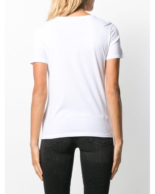T-shirt classique Majestic Filatures en coloris White
