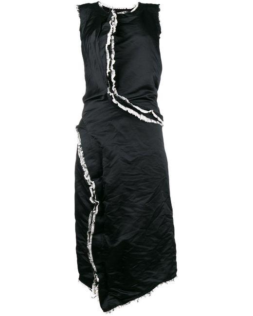 Frayed Ruffled Trim Dress Comme des Garçons, цвет: Black