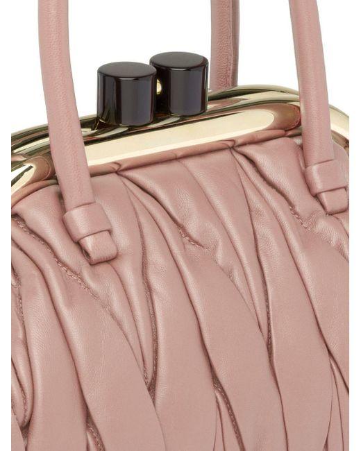 Miu Miu マテラッセ ハンドバッグ Pink