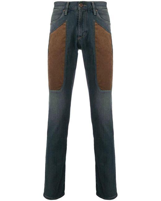 Jeckerson - Blue Contrast Panel Jeans for Men - Lyst
