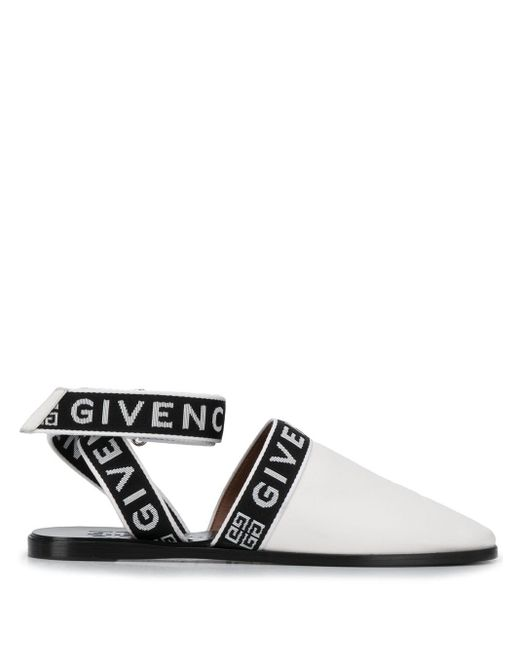 Givenchy ロゴストラップ ミュール Black