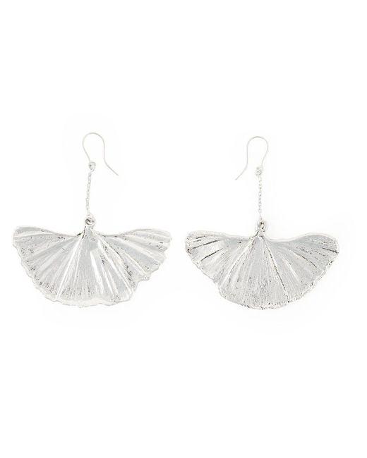 Aurelie Bidermann Metallic Ginkgo Earrings