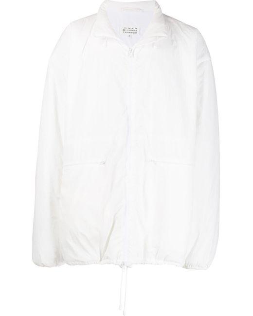 メンズ Maison Margiela オーバーサイズ ウィンドブレーカー White