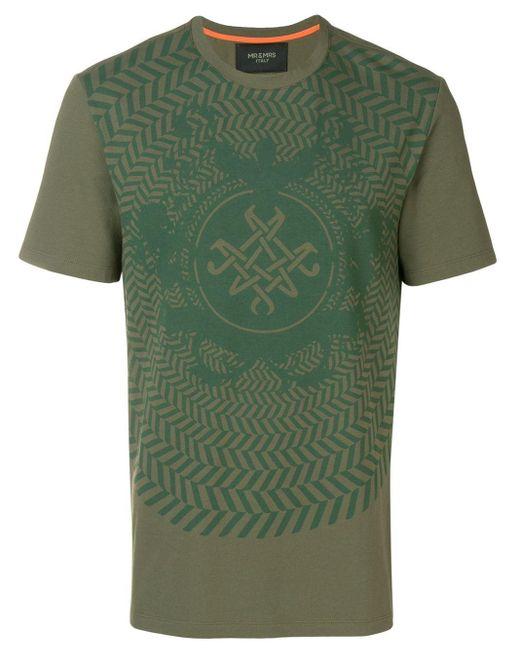 メンズ Mr & Mrs Italy グラフィック Tシャツ Green