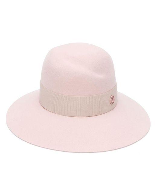 Maison Michel Pink Wide Brimmed Hat