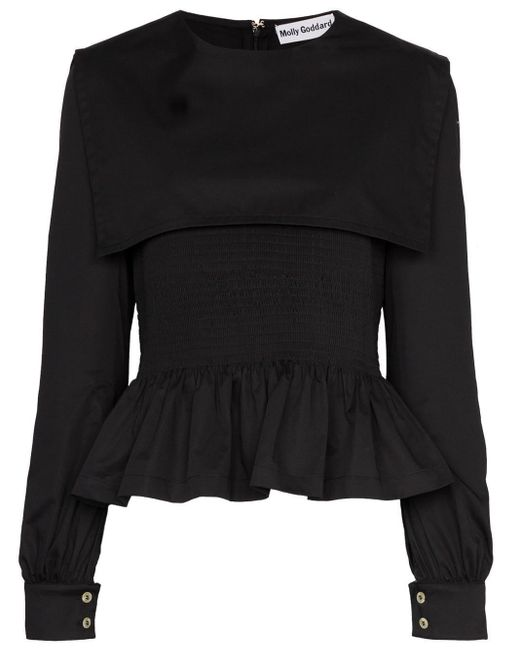 Molly Goddard Lucy ぺプラム トップ Black
