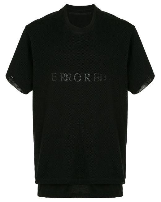 メンズ Julius レイヤード メッシュtシャツ Black