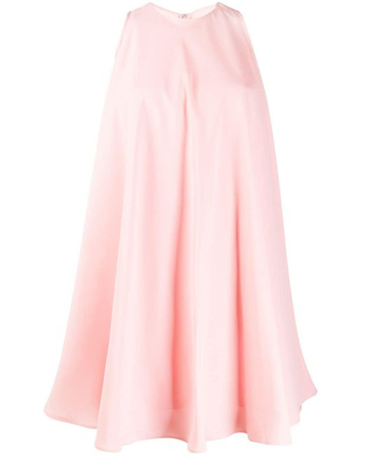Sara Battaglia ノースリーブ シフトドレス Pink