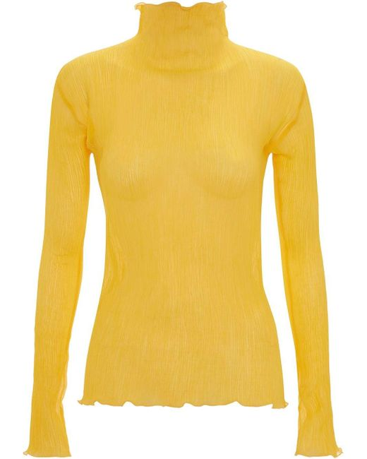 J.W. Anderson Frilled Hem Pleat Top Yellow
